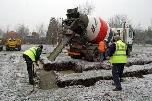 Rose concrete coatings cold weather concrete tips for Pouring concrete in the cold