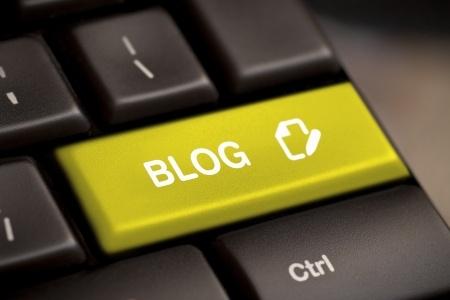 the yellow blog enter button key