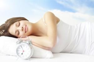 Girl Sleeping on white bed