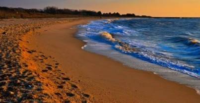 Evening light on Sunset Beach, Cape May, New Jersey