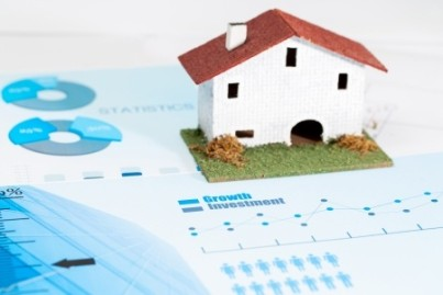 Close up of statistical housing industry analysis