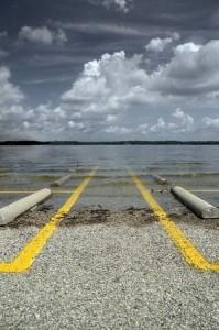Flooded Parking Lot - No Parking
