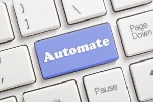 Blue automate key on keyboard