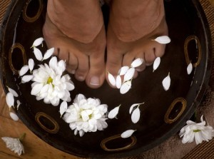 essential oil foot bath
