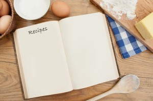 Recipe book and ingredients