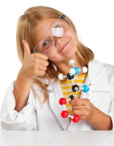 14615541 - cute young girl doing science experiements