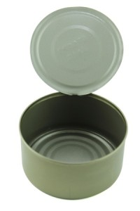 18700802 - empty tuna can on white background.  with a clipping path