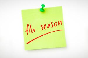 45230737 - flu season against green pinned adhesive note