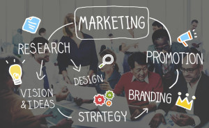 51791400 - marketing strategy business information vision target concept