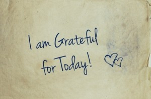 49554342 - i am grateful for today written on old piece of paper