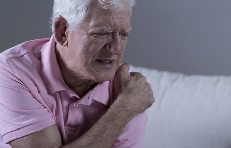 40343069 - senior suffering from shoulder pain