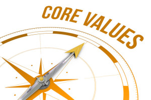 42323793 - the word core values against compass