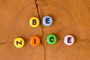 31725041 - colored be nice on wooden background