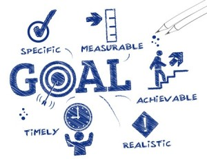 37409636 - goal setting. chart with keywords and icons