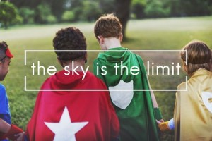 62386188 - the sky is the limit freedom inspire motivation concept