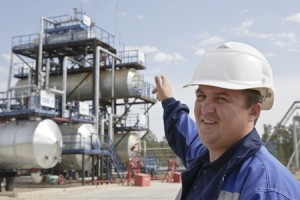10113687 - oil worker in industrial oil and fuel plant