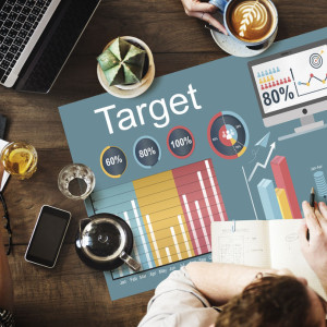 60575116 - target strategy vision mission marketing concept