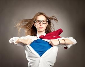 19915575 - woman opening her shirt like a superhero