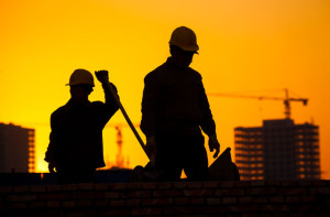 32639195 - silhouette of construction worker