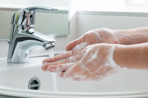 37623123 - hygiene. cleaning hands. washing hands.