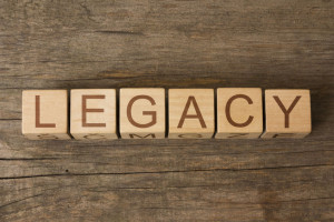 61191482 - legacy word on wooden cubes