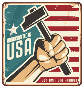 25365846 - made in usa retro metal sign