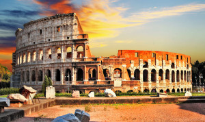 35233615 - great colosseum in sunset. rome