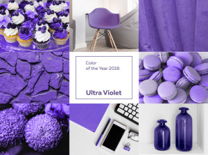 91910670 - collage with ultra violet color of the year 2018 pantone.