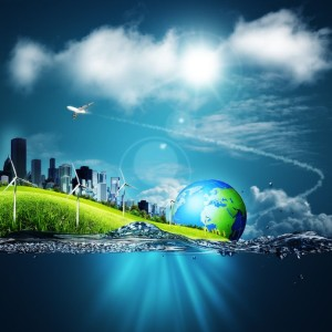 17344370 - abstract ecosystem backgrounds under the blue skies for your design