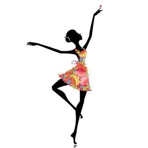 16188511 - ballerina in a flower dress