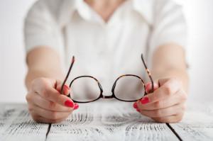 78976464 - senior business woman portrait with eyeglasses.