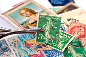 42534630 - classic french stamp in a collection
