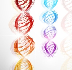 12493453 - abstract background with a colorful picture of the dna molecule