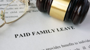 74626996 - page with title paid family leave and gavel.
