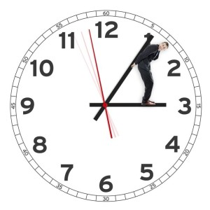 20177167 - deadline, man holding the time or clock