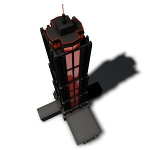 13149768 - a pictogram of a skyscraper to symbolize architectural visualization