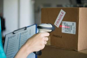 Scanning boxes with barcode scanner