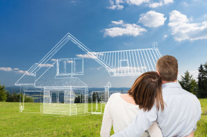 65483791 - loving young couple looking at dream house.