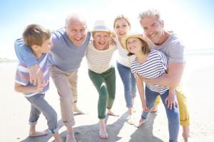 Portrait of happy intergenerational family