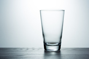 Empty glass