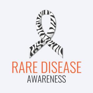 Rare disease ribbon poster
